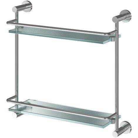 Gemini Wall Mounted Double Glass Shelf