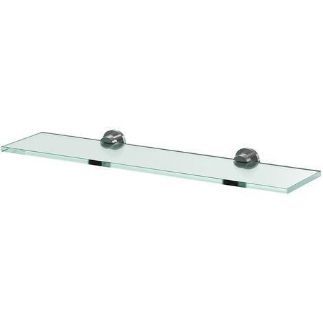 Gemini Wall Mounted Glass Shelf