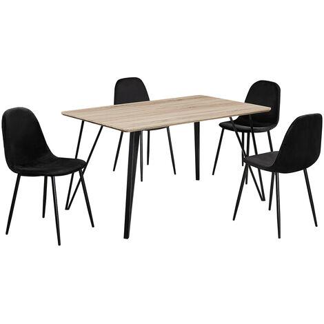 Gemmy Table Dark Oak Plus Chairs