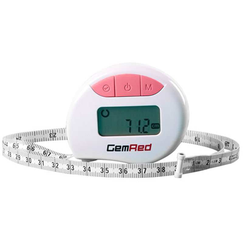 Image of Digital Measuring Tape Accurately Measures Body Part Circumferences, Pink - Gemred