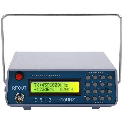 Generador 0,5 MHz-470 MHz de la senal de RF del medidor, para FM radio walkie-talkie