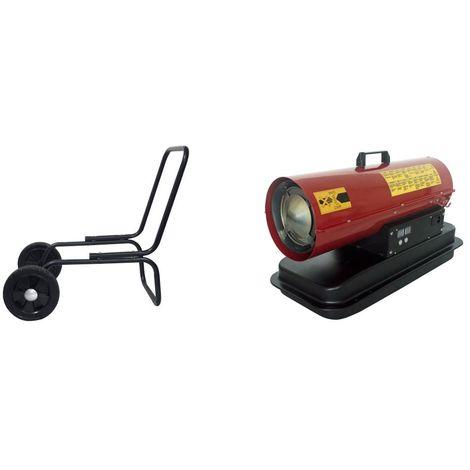Generador de aire caliente con ruedas