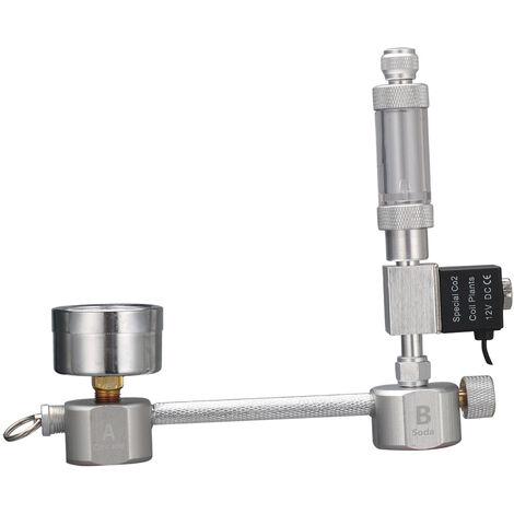 Generador de CO2 para acuarios, con contador de burbujas de valvula solenoide