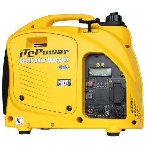 ITCPOWER - Generador Inverter 0,9/1,0 Kw. Unicamente 16 kg. Silencioso. Corriente 100% estable