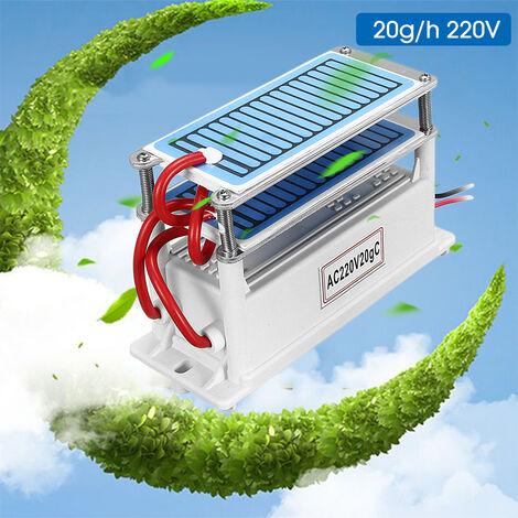 Generador de ozono doméstico de 220 V 20 g / H, doble placa de cerámica integrada, fabricante de ozono, fabricante de ozono