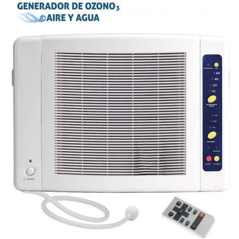 Generador de Ozono Doméstico de Aire y Agua Elimina Virus,Bacterias,Olores,Prefiltro y Filtro de Bacterias.Con Mando