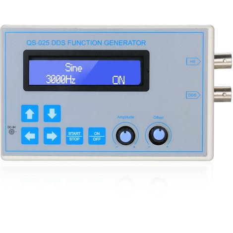Generador de senal Funcion DDS, Sine Plaza Triangulo de diente de sierra de onda de baja frecuencia 1 Hz Cable USB DC9V-65534Hz