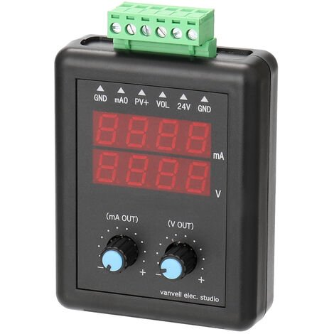 Generador de senal, transmisor de voltaje de corriente de 24 V, 4-20 mA 0-10V