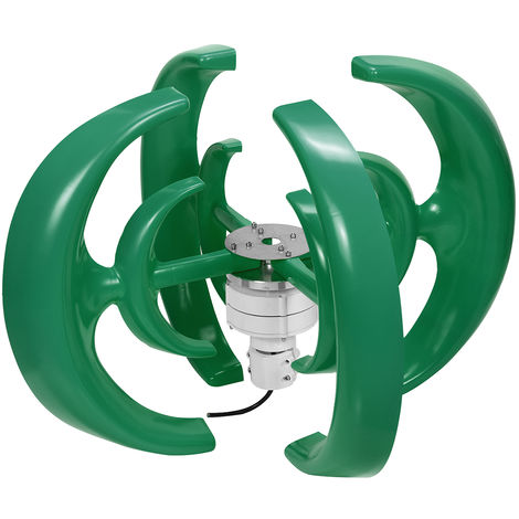 Generador de turbina de viento de 4200W 4 cuchillas Green 12V Vertical Axis Energy