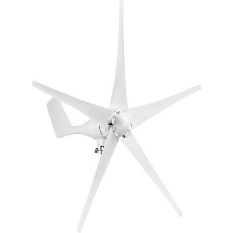 """main image of """"Generador de viento de 12 V y 1200 W con controlador de cargador, 5 palas, tipo S, minitype, kit de generador de turbina eolica, molino de viento de energia clara para el hogar, carreteras, barcos, blanco, 5 palas"""""""