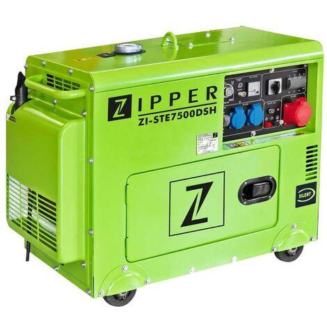 GENERADOR DIESEL 5000W 418CC ZIPPER ZI-STE7500DSH