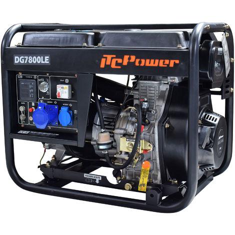 Generador diesel abierto IT-DG7800LE con arranque electrico con ATS 6300w