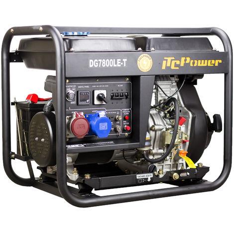 Generador diesel FullPower IT-DG7800LET abierto arranque electrico con ATS 6,3kw/8,1kva