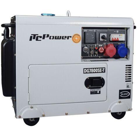 Generador diesel FullPower IT-DG7800SET insonorizado con arranque electrico con ATS 6,3kw/8,1kva