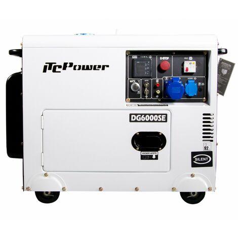 Generador diesel insonorizado IT-DG6000SE con arranque electrico con ATS 5300w