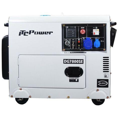 Generador diesel insonorizado IT-DG7800SE, con arranque electrico con ATS 6300w