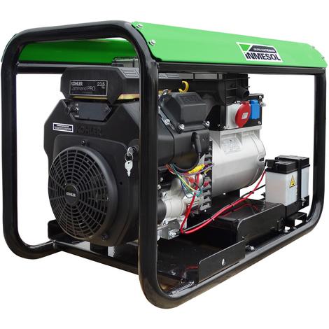 Generador eléctrico 12000w (15 kVA) 400-230v Trifásico Arranque Eléctrico Gasolina Grupo electrógeno INMESOL AK-1500