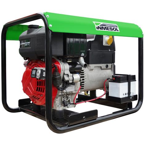 Generador eléctrico 5600w (7 kVA) 400-230v Trifásico Arranque Eléctrico Diésel Grupo electrógeno INMESOL AL-650
