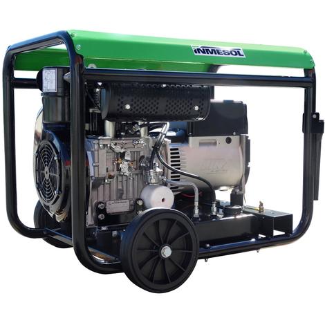 Generador eléctrico 8800w (11 kVA) 400-230v Trifásico Arranque Eléctrico Diésel Grupo electrógeno INMESOL AL-1000