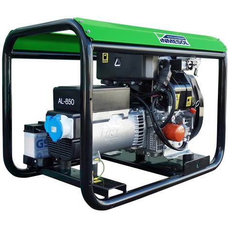 Generador eléctrico 9000w (9 kVA) 230v Monofásico Arranque Eléctrico Diésel Grupo electrógeno INMESOL AL-850