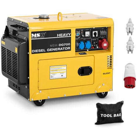 Generador Eléctrico Diésel Emergencia Portátil Con Motor 4 Tiempos 4400 W 14,5 L