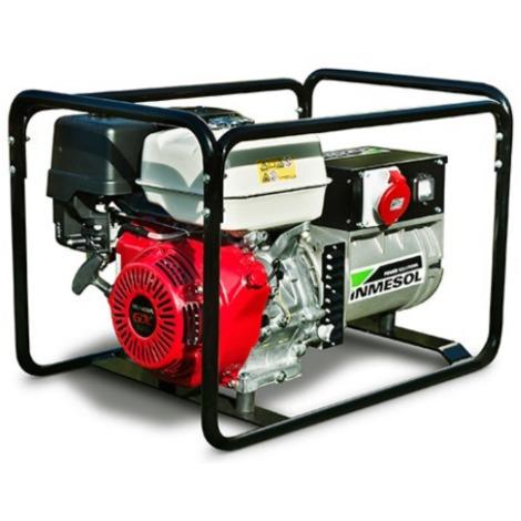 Generador eléctrico HONDA 4800w (6 kVA) 400-230v Trifásico Arranque Eléctrico Gasolina Grupo electrógeno INMESOL AH-600-E