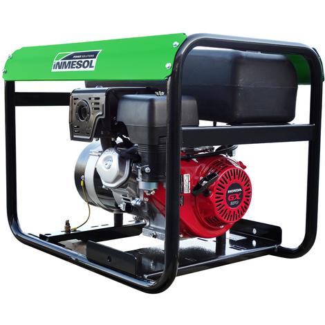 Generador eléctrico Honda 5500w (5,5 kVA) 230v Monofásico Arranque Eléctrico Gasolina Grupo electrógeno INMESOL AH-550-E