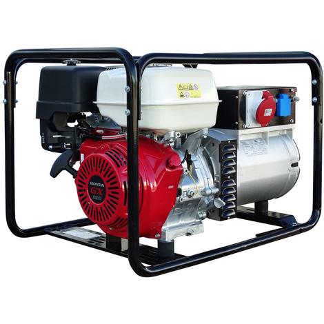 Generador eléctrico HONDA 6800w (8,5 kVA) 400-230v Trifásico Arranque Eléctrico Gasolina Grupo electrógeno INMESOL AH-850-E