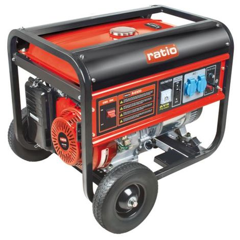 Generador electrógeno de gasolina rg-6500 - talla