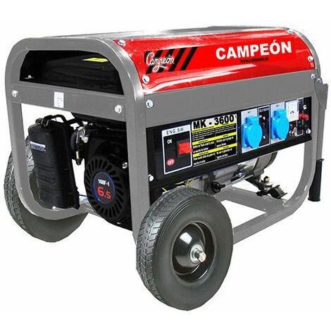 Generador Gasolina 6,5 Cv 2,8kva 15lt Mk3600 Campeon 0