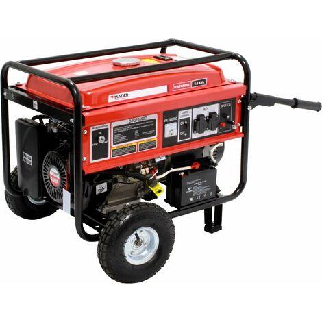 Generador Gasolina 7,0KVA, 16Hp, 420 cc, Euro V Monofásico, c/ruedas - MADER®