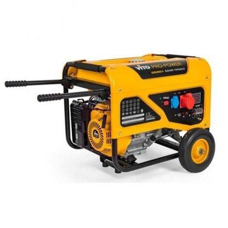 Generador Monofasico 6.5Kva Con Ruedas E Pega Vito Pro Power