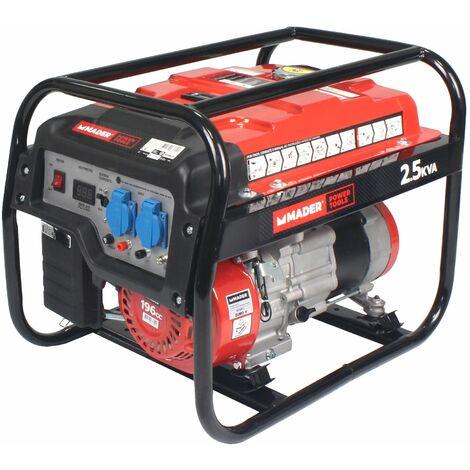 Generador Monofásico, AVR, 2.5Kva, 15L - MADER® | Power Tools