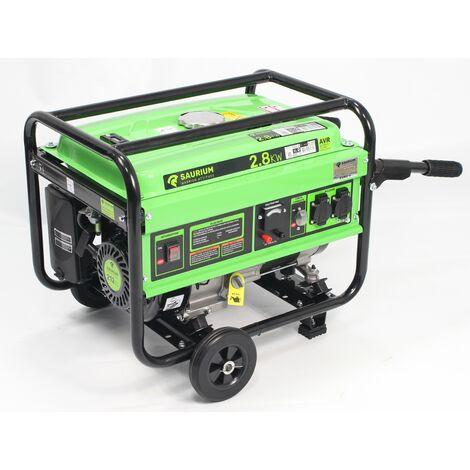 Generador Monofásico, con Ruedas, 2.8Kw, 212CC - SAURIUM®