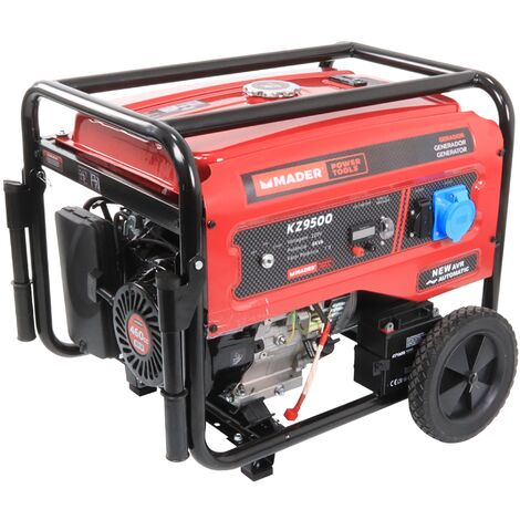 Generador Monofásico con Ruedas, 8.0Kva - MADER® | Power Tools