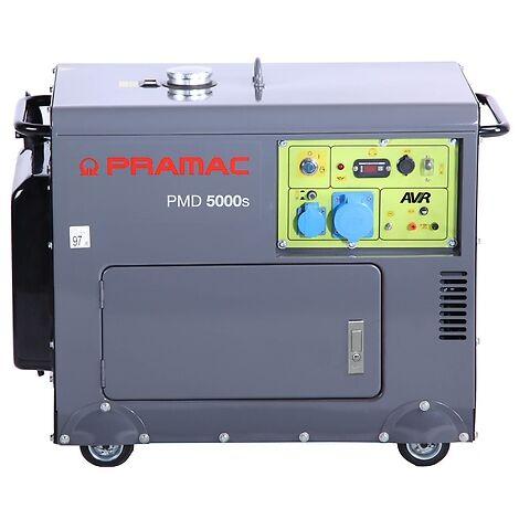 Generador Pramac PMD5000s diésel, potencia LTP 5000 W, AVR, arranque eléctrico