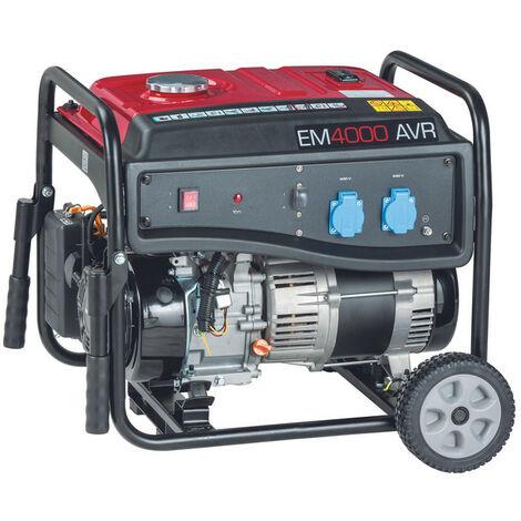 Generador Pramac Powermate EM4000 gasolina, potencia LTP 3500 W, AVR, arranque manual, kit de ruedas incluido