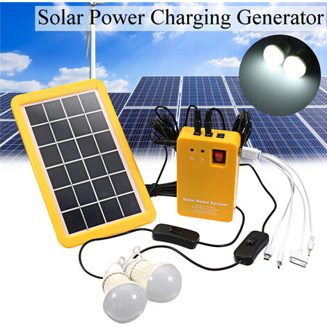 Generador Sistema Solar Panel 3W USB Cargador de tel