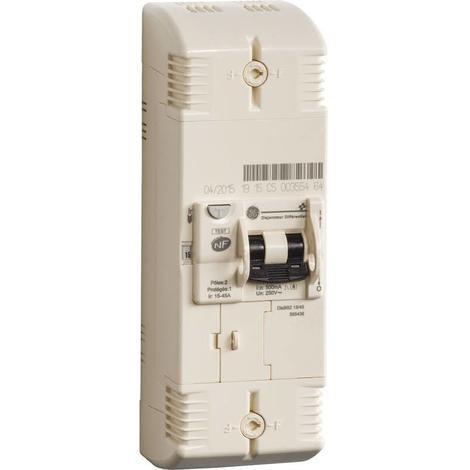 General Electric 585438 Disjoncteur de branchement EDF type 2P - 15-30-45A - 500mA - Sélectif