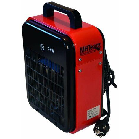 Generateur air chaud 3000W IPX4 Rouge cm 22,0x20,0x33,5 MHTEAM EH1-03