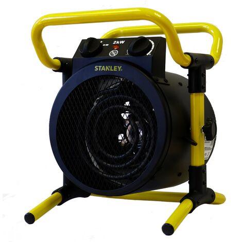 Générateur d'air chaud 2000W STANLEY Turbo Electrique puissance reglable thermostat