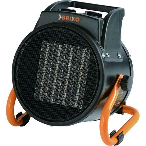 Générateur d'air chaud 3000W éléctrique 230V BRIXO Céramique 3 puissances de chauffe