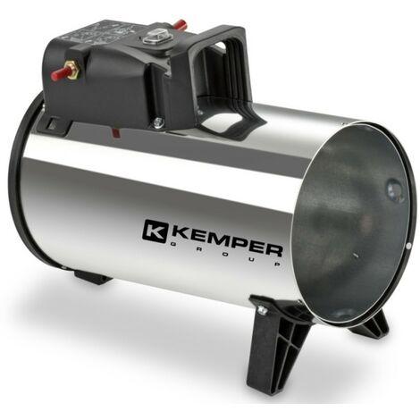 Générateur d'air chaud à gaz 10 KW KEMPER Canon à chaleur gaz tuyau et détendeur