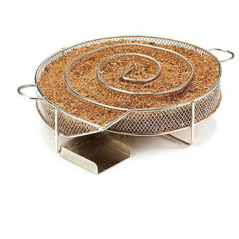Générateur De Fumée Froide ,Panier Smoking Tray en Acier Inoxydable Barbecue Copeaux de Bois Froid Générateur de Fumée