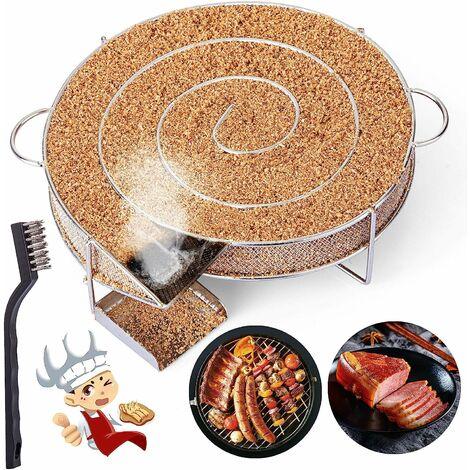 Générateur de Fumée Froide pour Fumoir Fumage Viande Poisson avec Brosse Nettoyage Grille Barbecue