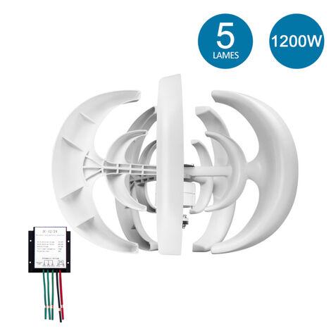 Generateur De Vent Avec Chargeur Controleur 5 Lames Minitype Lantern Eolienne Generateur Kit