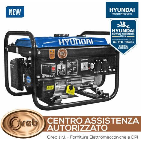 """main image of """"Generatore di corrente monofase hyundai avr 28 kw 65122 modello 2020"""""""