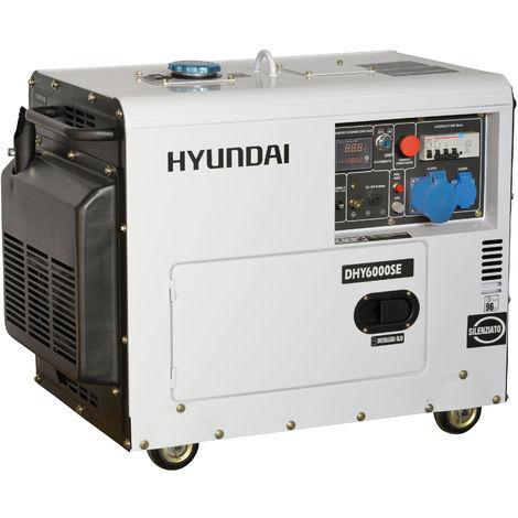 Generatore di corrente silenziato Hyundai 65231 - DHY6000SE con AVR