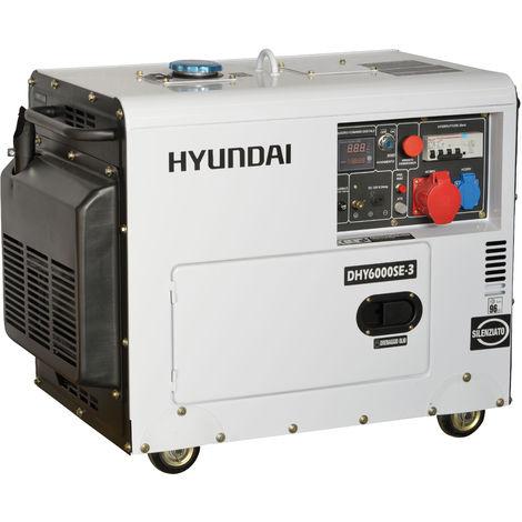 Generatore di corrente silenziato Hyundai 65232 - DHY6000SE3 con AVR