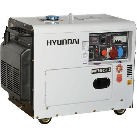 Generatore di corrente silenziato Hyundai 65234 - DHY8000SE3 con AVR